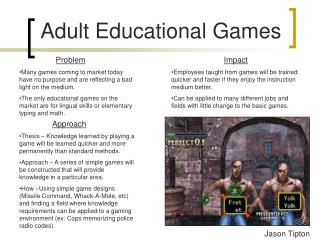 Adult Educational Games