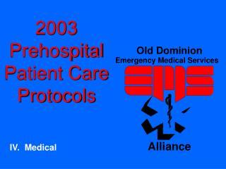2003 Prehospital Patient Care Protocols