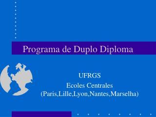 Programa de Duplo Diploma