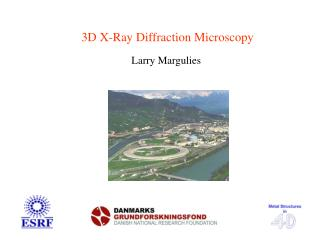3D X-Ray Diffraction Microscopy