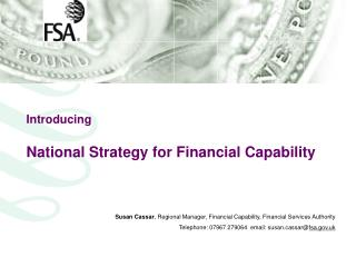 Introducing National Strategy for Financial Capability