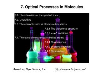 7. Optical Processes in Molecules