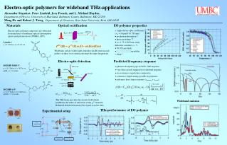 Electro-optic polymers for wideband THz-applications