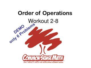 Workout 2-8