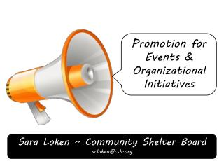 Promotion for Events & Organizational Initiatives