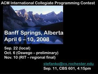 ACM International Collegiate Programming Contest