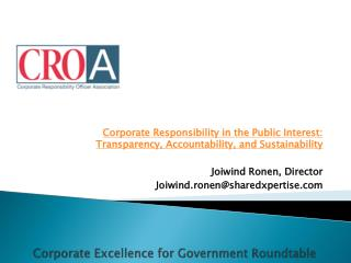 Corporate Excellence for Government Roundtable