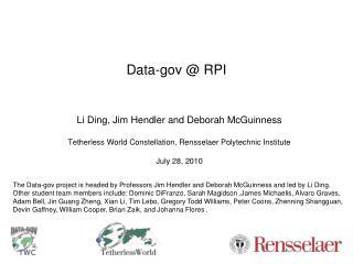 Data-gov @ RPI