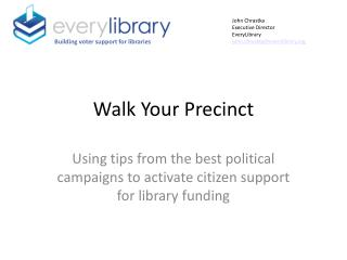 Walk Your Precinct