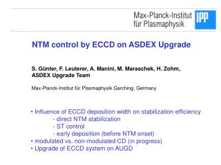 NTM control by ECCD on ASDEX Upgrade