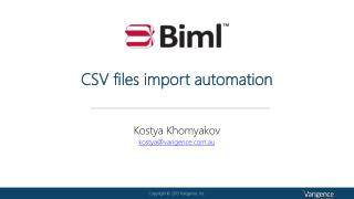 CSV files import automation