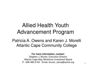 Allied Health Youth Advancement Program