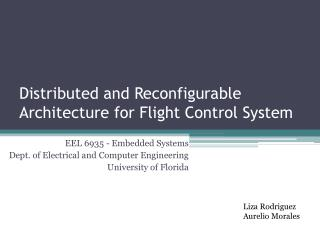 Distributed and Reconfigurable Architecture for Flight Control System