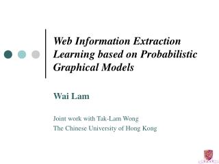 Web Information Extraction Learning based on Probabilistic Graphical Models