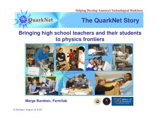 The QuarkNet Story
