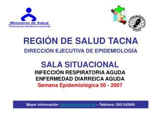 REGI�N DE SALUD TACNA