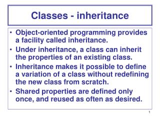 Classes - inheritance
