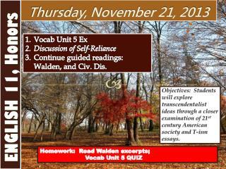 Thursday , November  21,  2013