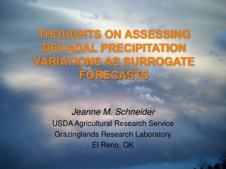 THOUGHTS ON ASSESSING DECADAL PRECIPITATION VARIATIONS AS SURROGATE FORECASTS