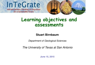 Learning Objectives Upon completion of this material, you should be able to:
