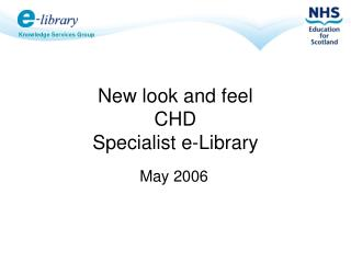 New look and feel CHD  Specialist e-Library