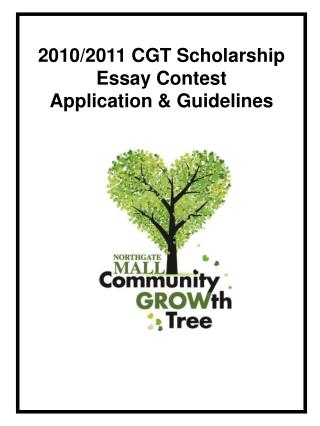 2010/2011 CGT Scholarship  Essay Contest  Application & Guidelines