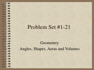 Problem Set #1-21