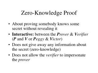 Zero-Knowledge Proof