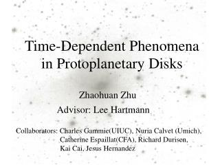 Time-Dependent Phenomena in Protoplanetary Disks