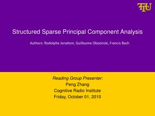 Structured Sparse Principal Component Analysis