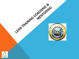 Lean training coaching & Mentoring