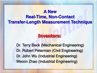A New  Real-Time, Non-Contact  Transfer-Length Measurement Technique