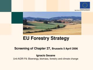 EU Forestry Strategy Screening of Chapter 27,  Brussels 5 April 2006