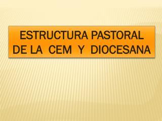 ESTRUCTURA PASTORAL  DE LA  CEM  Y  DIOCESANA