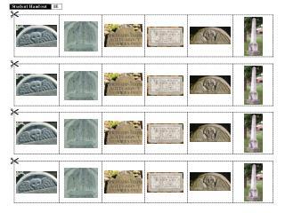 Student Handout 1E  Gravestones Cutouts