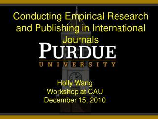 Holly Wang Workshop at CAU December 15, 2010