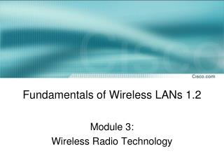 Fundamentals of Wireless LANs 1.2