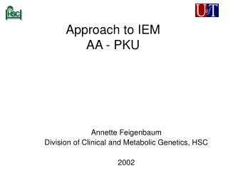 Approach to IEM AA - PKU