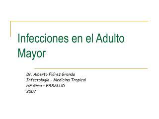 Infecciones en el Adulto Mayor