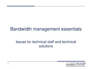 Bandwidth management essentials