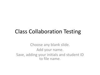 Class Collaboration Testing
