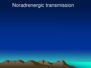 Noradrenergic transmission