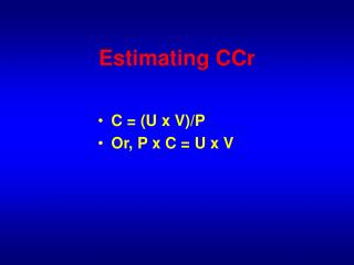 Estimating CCr