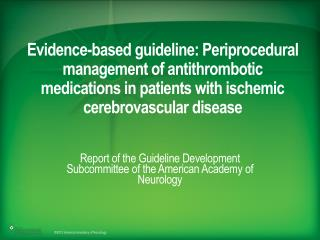 Report of the Guideline Development Subcommittee of the American Academy of Neurology