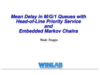 Mean Delay in M/G/1 Queues with Head-of-Line Priority Service and Embedded Markov Chains