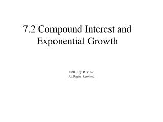 7.2 Compound Interest and Exponential Growth
