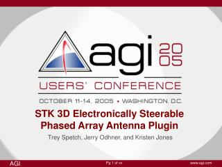 STK 3D Electronically Steerable Phased Array Antenna Plugin