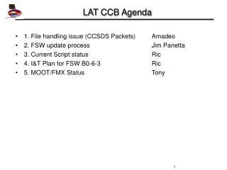 LAT CCB Agenda
