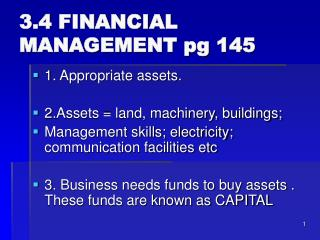 3.4 FINANCIAL MANAGEMENT pg 145