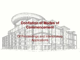 Conflation of Modes of Commencement